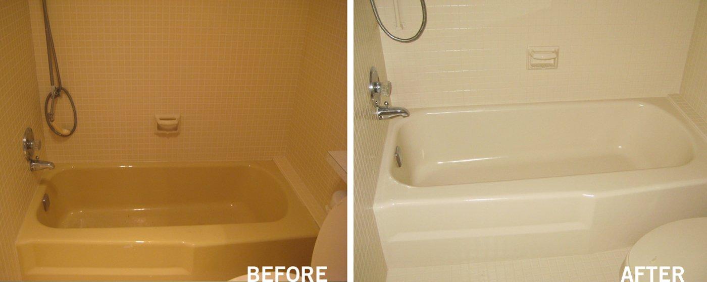 Refinished Bathroom Bathtub And Shower Surround